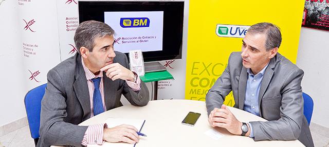 Firma del acuerdo entre BM Supermercados y Celíacos Madrid