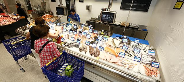 Interior supermercado BM Chile de Logroño