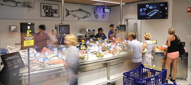 Pescadería del supermercado BM de Hoyo de Manzanares