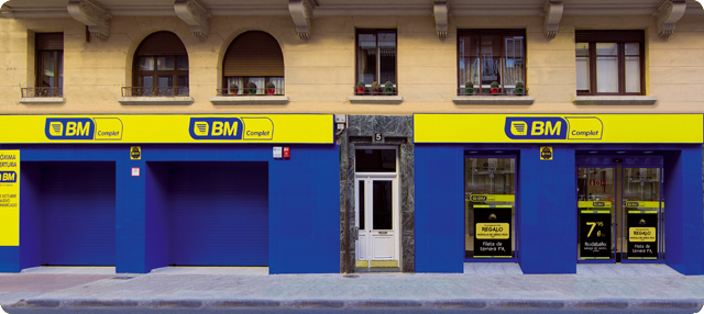 Fachada del supermercado BM de Logroño