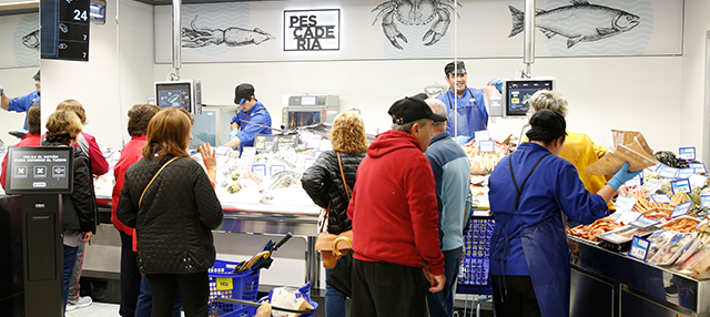 Pescadería del supermercado BM de Villaviciosa de Odon